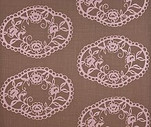 Dutch Wallcoverings 7227–1 Ornament Tapete – Braun/Pink