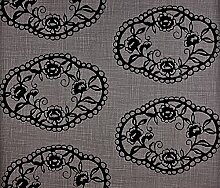 Dutch Wallcoverings 7227–7 Ornament Tapete, Schwarz