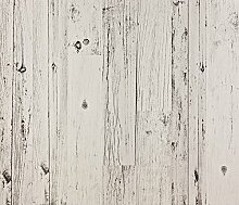 Dutch Wallcoverings 7250–0 Holz Tapete, Weiß
