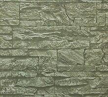 Dutch Wallcoverings 7326-1Steine Tapete-Grau