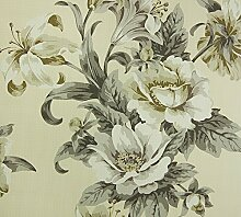 Dutch Wallcoverings 7331-2 Blumen Tapete - Beige