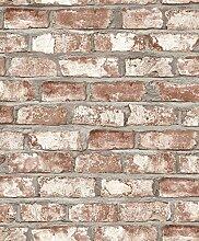 Dutch Wallcoverings ew3102Bricks Tapete–Beige