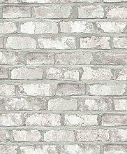 Dutch Wallcoverings ew3104Bricks Tapete, Weiß