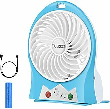 DUTISON Mini Ventilator Leise Mini Handventilator Ventilatoren mit Batterie (Blau)