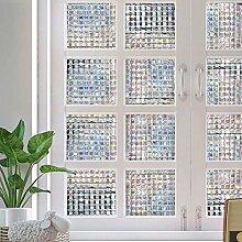 Dutsekk Statische Fensterfolie, 3D, kein Kleben,
