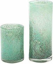 DutZ Vase CYLINDER, jade bubbles (H30 D12)