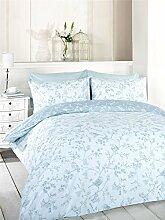 Duvet-Überwurf-Decke für Bett, Baumwoll-Art, blau