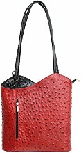 DW-Accessoires - elegante Leder Handtasche -