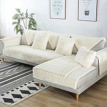 DW&HX Anti-Rutsch Plüsch Sofa Decken,Nicht fussel