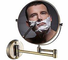 DW&HX Ausfahrbare schminkspiegel,Kupfer Badezimmer