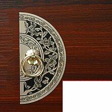 DW&HX Klassischen,Möbelgriff Antique,Reines Kupfer Schublade Griff Ming- Und Qing-stil,Handle Kleiderschrank Pure Kupfer Den Chinesischen Griff-D