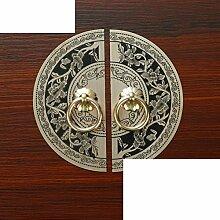 DW&HX Klassischen,Möbelgriff Antique,Reines Kupfer Schublade Griff Ming- Und Qing-stil,Handle Kleiderschrank Pure Kupfer Den Chinesischen Griff-B