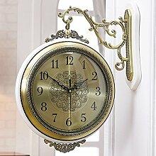 DW&HX Mute clock, Doppelseitige wand uhr runde uhr