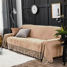 DW&HX Plüsch Sofabezug,1-teilige Vintage Spitze