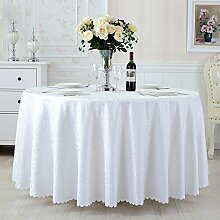 DW&HX Runde Tischdecke Für Hotels Stoffe Outdoor-restaurant Tischdecke Quadratisches Tischkaffeetuch Hotel Hochzeit Runde Tischdecke-E 140x140cm(55x55inch)
