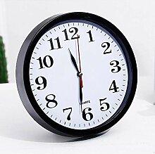 DW&HX Schwarze Wand Uhr, Stillen Nicht Ticken 9