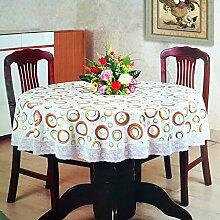 DW&HX Wasserdicht tischdecke runde tischdecke dicked hotel plastik tisch tuch pvc runder tisch tuch oilproof einweg tischdecke-M Durchmesser200cm(79inch)