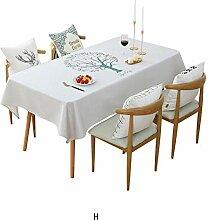 DWcamellia Tischdecke Tischdecke mit geometrischem