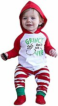 Dwevkeful Weihnachten Baby Outfits Set Hoodie+Hose
