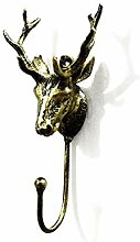 Dwthh 2 Stücke Bronze Deer Wandhalterung