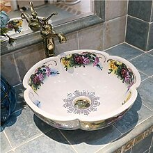dwthh Blumenform China handgemachte Waschbecken