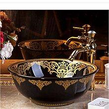 dwthh China Artistic Handmade Keramik Waschbecken