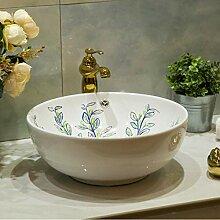 dwthh Europäisches Waschbecken aus Keramik