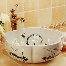 dwthh Gold Jingdezhen Keramik Waschbecken
