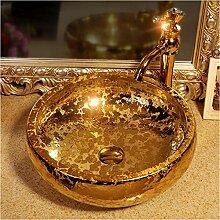 dwthh Golden glasierte China Artistic Handmade
