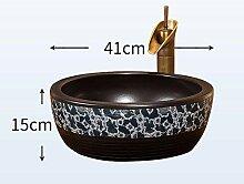 dwthh Jingdezhen Bad Keramik Waschbecken
