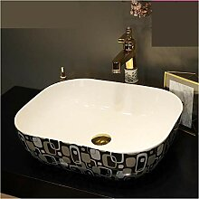 dwthh Jingdezhen rechteckige Keramik Waschbecken