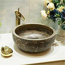 dwthh Oval China Handmade Lavabo Waschbecken Art