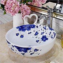 dwthh Porzellan blau und weiß Aufsatz Lavabo