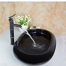 dwthh Schwarz Oval Ceramic Wash Künstlerische