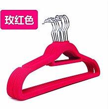 Dwthh Velvet Hangers BeflockteKleiderbügel