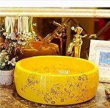 dwthh Waschbecken aus Keramik für Badezimmer,