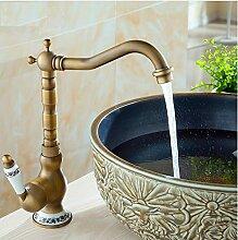 Dwthh Waschbecken Wasserhahn Antike Bronze Bad
