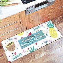 DWW Küchenteppiche Dünnschnitt Anti - Rutsch -