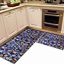 DWW Küchenteppiche Teppich rutschfest 3D Anti-Öl