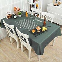 DWW-Tischdecke Tischdecken Baumwolle Leinen Tisch Nordic Wohnzimmer rechteckige Tischdecke TV-Schrank ( Farbe : Pattern 3 , größe : 140*140cm )