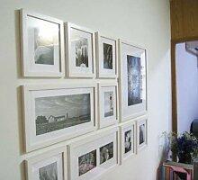 DX Hölzerne Bilderrahmen Wand Collage Set von 10
