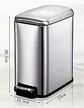 DX Mülleimer Küche Edelstahl Pedal Box Mit