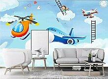 Dxbh Fototapete Cartoon Flugzeug Kinderzimmer
