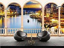 Dxbh Stadt Venedig Gebäude Tür Nacht Einfache