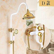 DXDJ voller kupfer körper dusche mit goldenen bad / retro - dusche, dusche kopf, weißem dusche,d