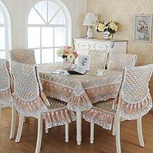 DXG&FX European-Style Gartentisch Stoff Tischdecke