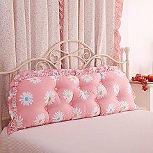 DXG&FX Großes Kissen auf Sofa in Baumwoll-Bett