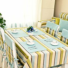 DXG&FX moderne Plaid Stoff Tischdecke aus