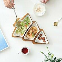 DXG&FX Weihnachts-Serie Keramik Bambus Snack