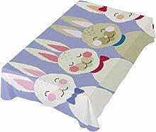 DXG1 Ostern-Tischdecke Hase 137x137 cm für